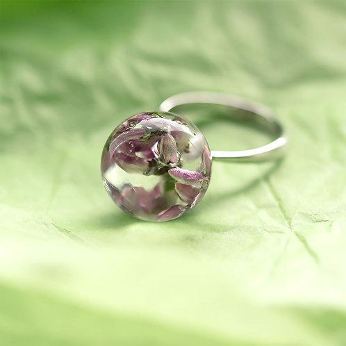 Кольцо с букетиком вереска, арт. 01-0400-29
