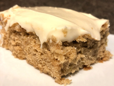 Banana Bars with Maple Cream Cheese Frosting
