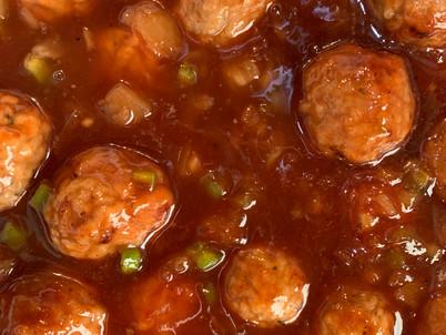 Maple Hawaiian BBQ Meatballs