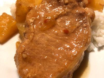 Maple Hawaiian Crock Pot Pork Chops