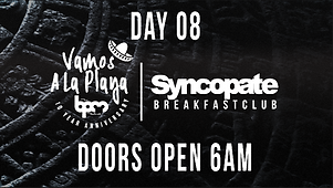 Syncopate Afterhours Day 8 Vamos A La Playa