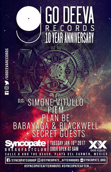Syncopate afterhours Day 4 Go Deeva Records 10 year Anniversary