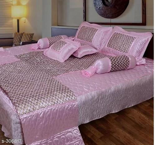 Royal Silk Bedding Set Fabric: Bedsheet   Silk, Pillow Covers   Silk, AC  Quilt   Silk,