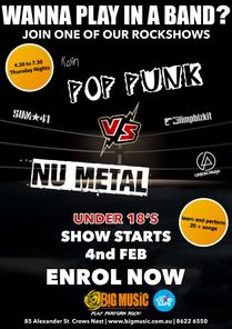 Pop Punk VS Nu Metal