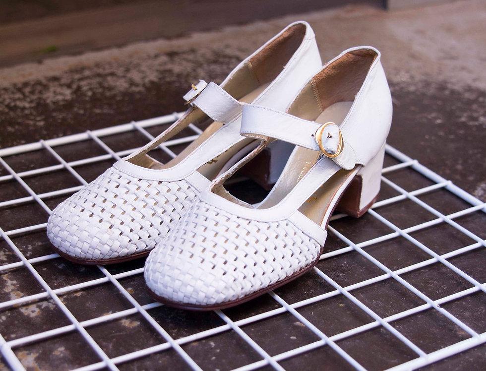 Zapato piel trenzado