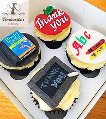 Thankyou teacher cupcakes