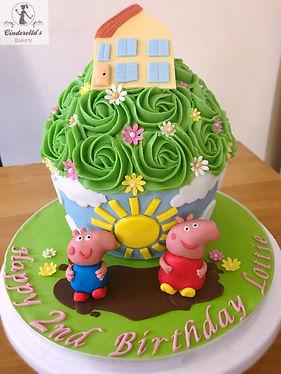 Peppa Pig giant cupcake