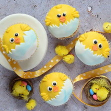 Easter Chick Cupcakes (im31)4sq.png