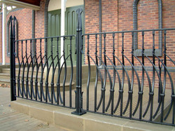 Section of finished railing