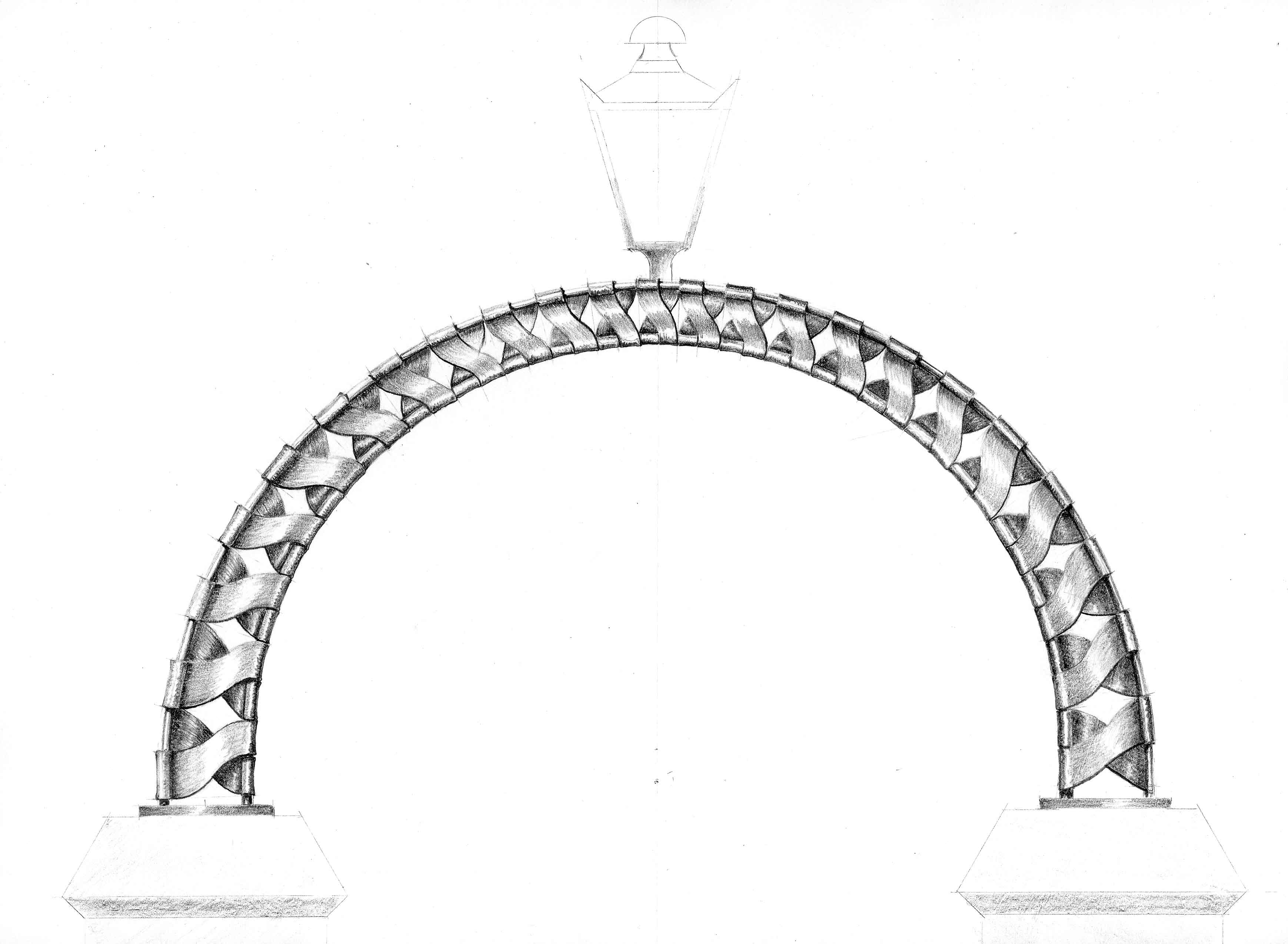 Wymeswold Church 'Olympic Arch' drg