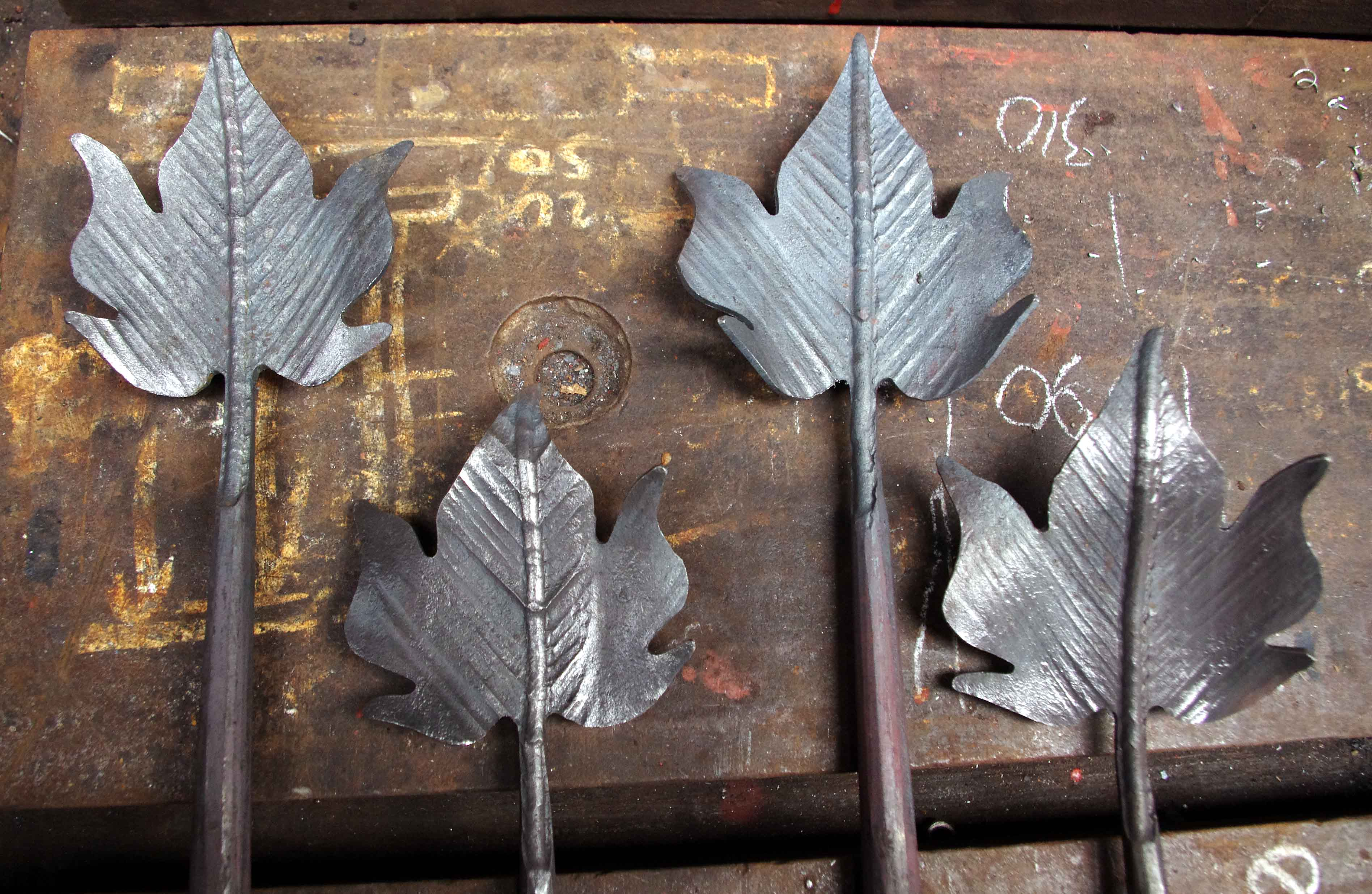 Forged Ivy Leaves