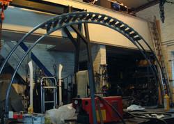 Wymeswold arch (under construction)