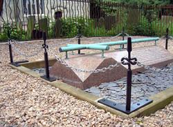 Grave chain posts