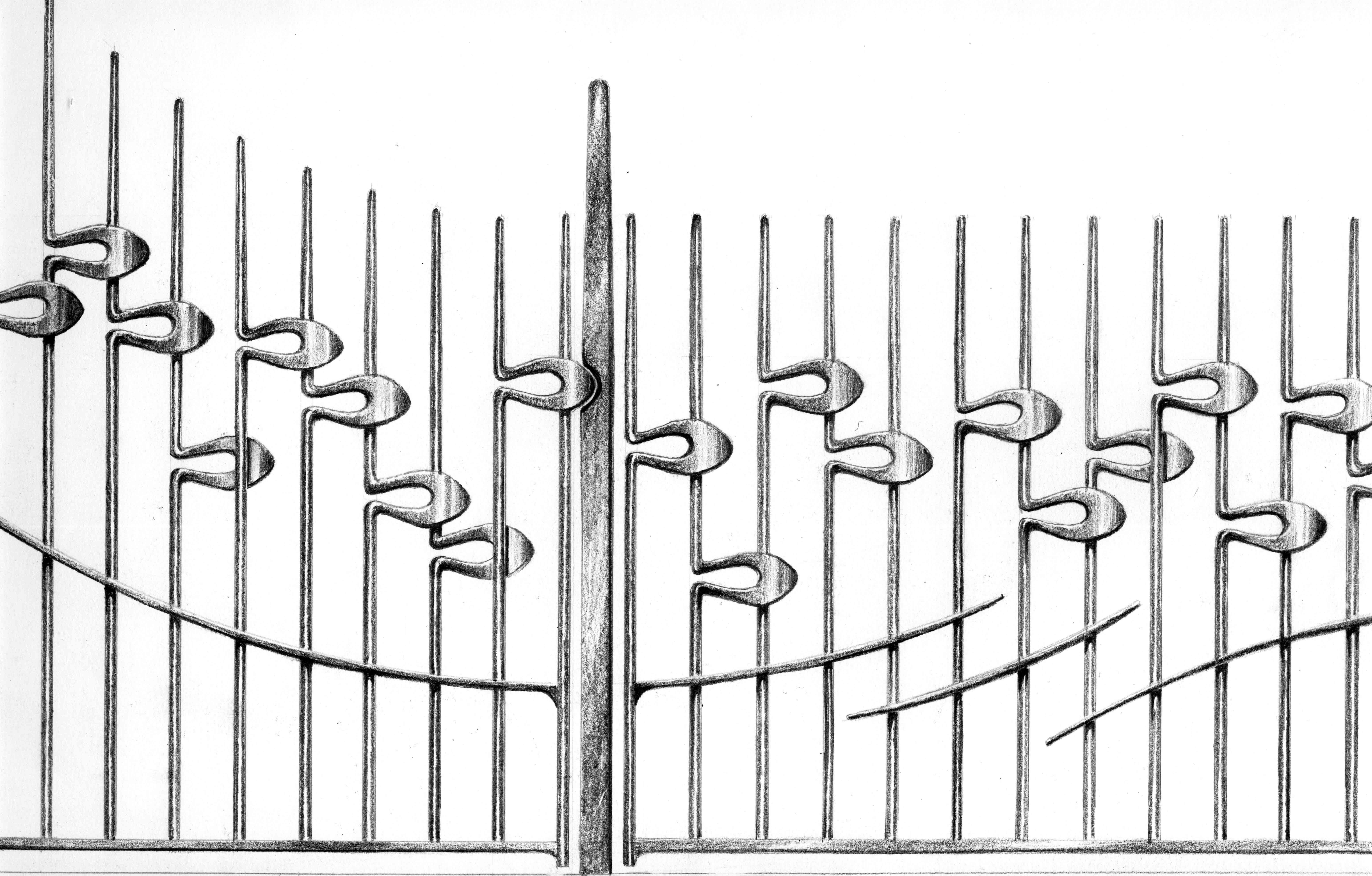 Drove Road railings design
