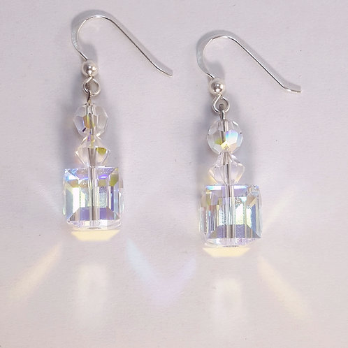Medium 10mm Swarovski crystal Earrings