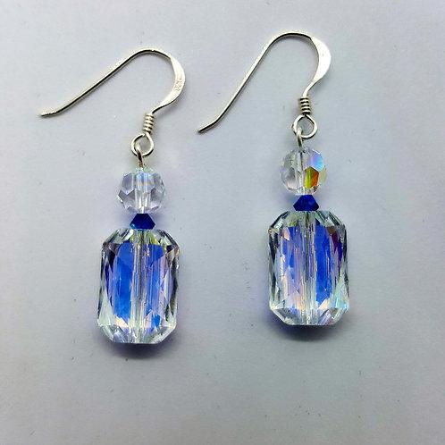 Swarovski Crystal earrings with sterling silver hook