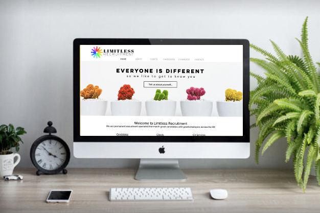 Crisp, clean web design or recruitment agencies by Paitai Design | Birmingham