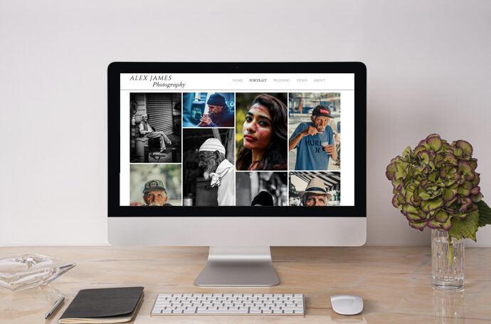 Stunning photography portfolio by Birmingham Web Design agency Paitai Design