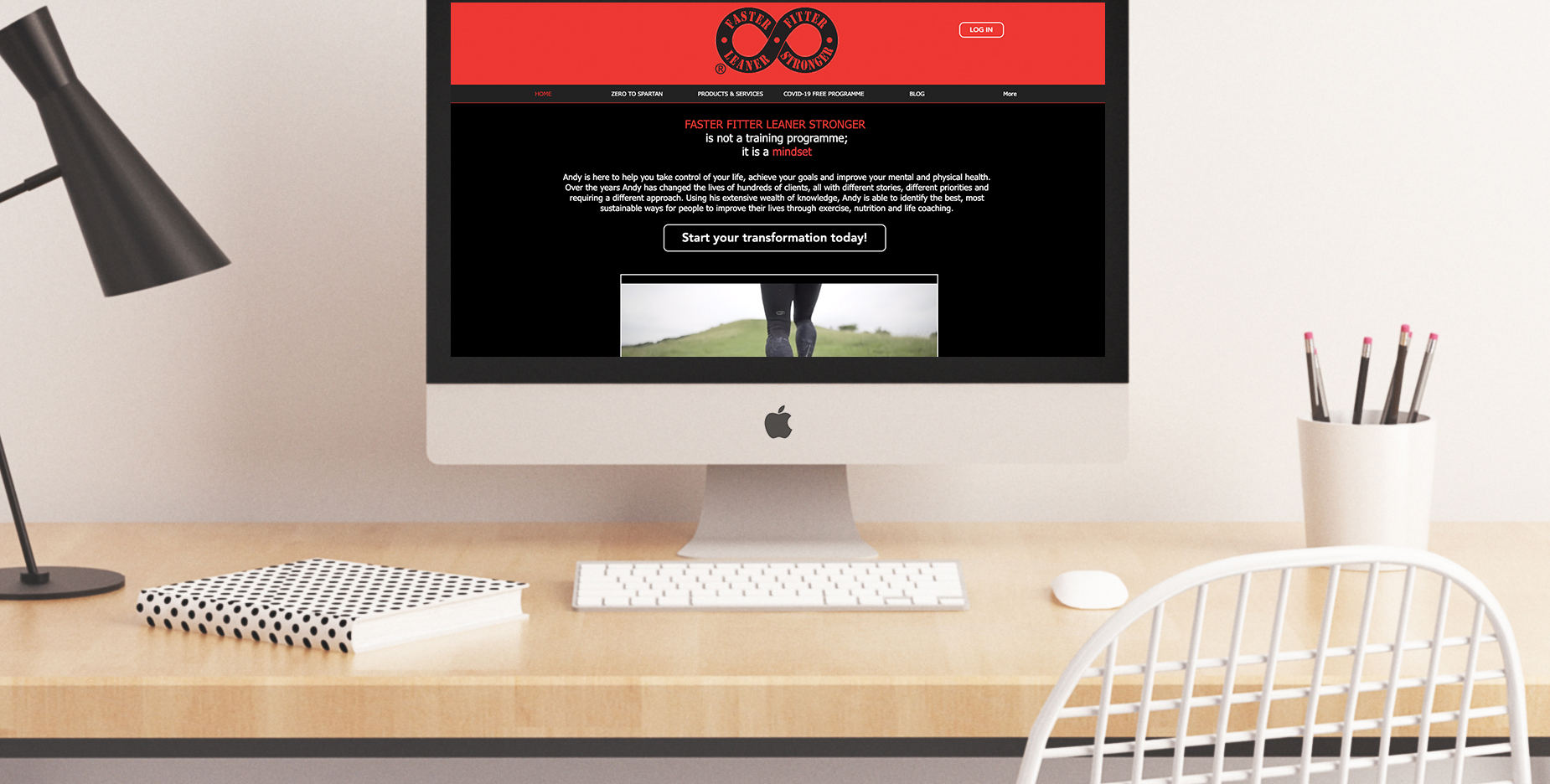 Stunning web design for a Personal Trainer based in Leighton Buzzard
