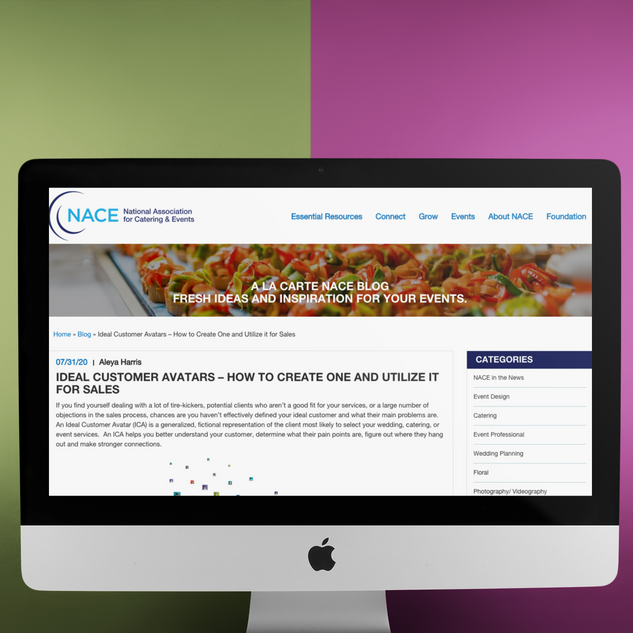 NATIONAL ASSOCIATION FOR CATERING & EVENTS - NACE