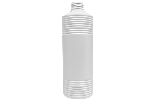 Frasco Estriado 500ml Branco GPP28 S/ Tampa (25 Unidades)