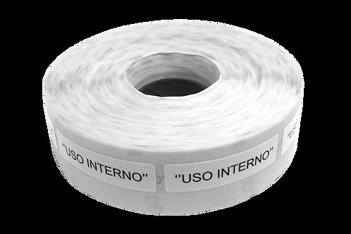 Etiqueta Adesiva Uso Interno (1 Rolo C/ 1000 Unidades)