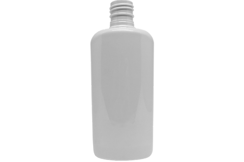 Frasco PET Cosm Oval 200ml Branco R24/415 (25 Unidades)