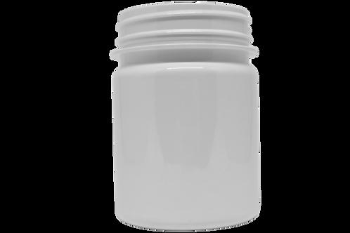Pote PET Branco 250ml Lacre 63mm (25 Unidades)