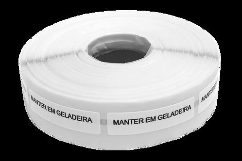 Etiqueta Adesiva Manter em Geladeira (1 Rolo C/ 1000 Unidades)