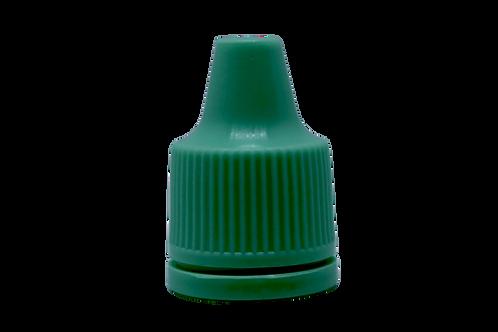 Tampa 15MM Verde Escuro Lacre P/ Gotejador Inv 10/250ml (25 Unidades)