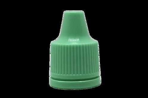 Tampa Verde Água Lacre P/ Gotejador Inv 10/250ml (25 Unidades)