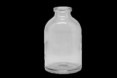 Frasco Vidro Injetável 50ml  R20MM Transparente (25 Unidades)