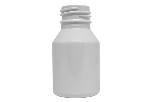 Frasco PET Farma GPP28 60ml Branco (25 Unidades)