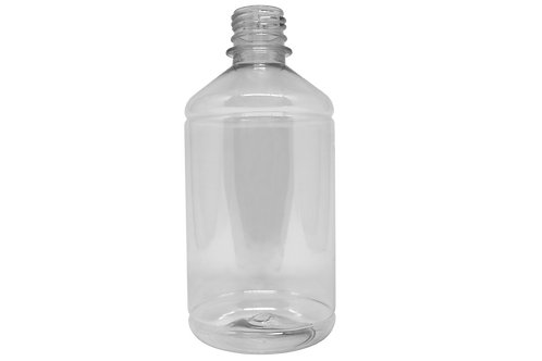 Frasco PET Farma GPP28 500ml Cristal (25 Unidades)