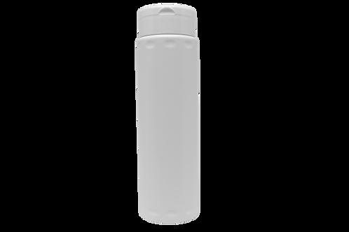 Frasco Talqueira Cilíndrica 120g/200ml Branca (25 Unidades)