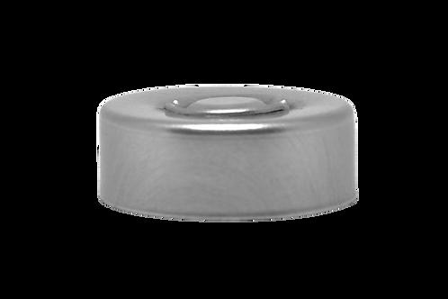 Selo Alumínio Prata 20mm Simples (25 Unidades)