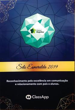 Selo esmeralda 2019