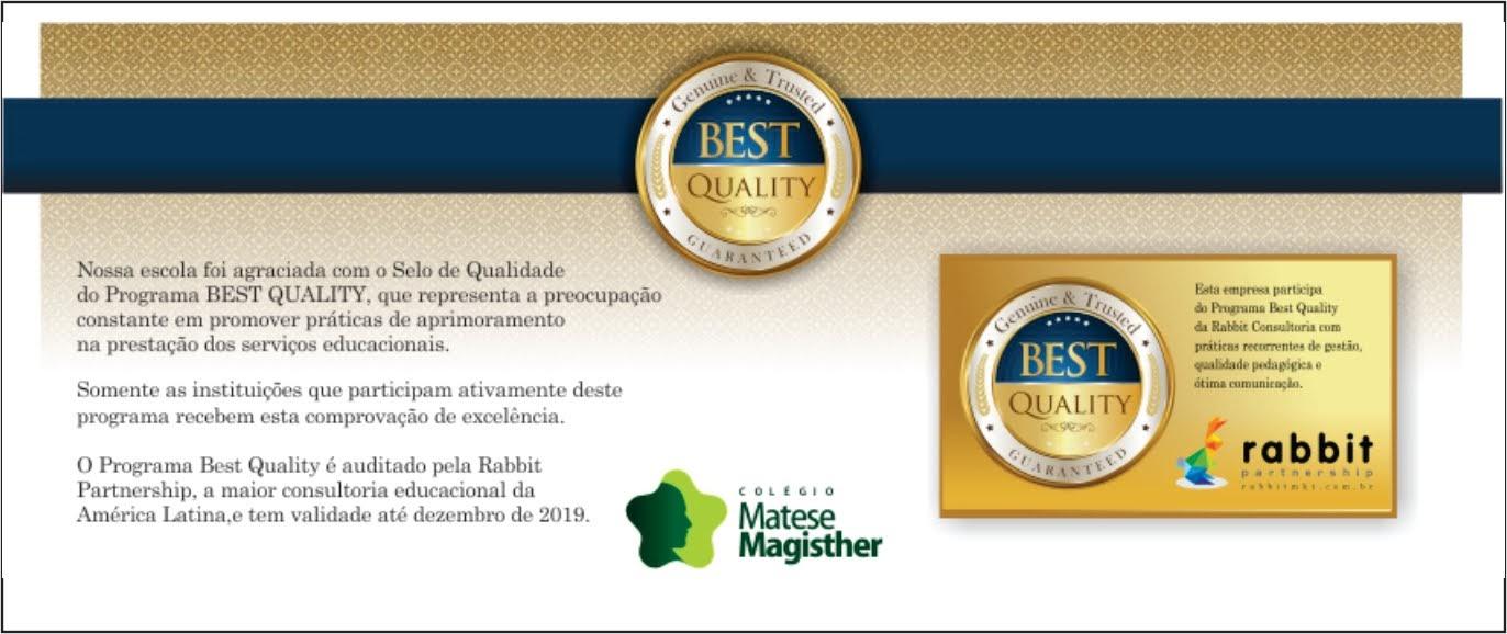 Quality Awards Rabbit