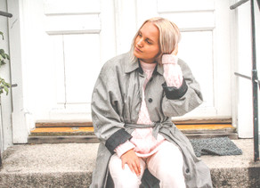 Oversized Knit & Check Trench