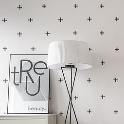 wallpaper and white lamp