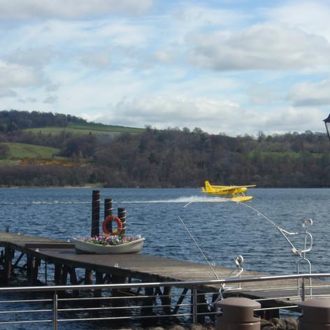 Sea plane at Loch Lomond