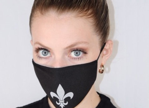 Face Mask with Fleur de Lis