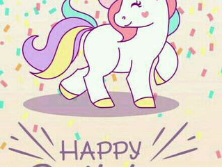 Nina's birthday party - 28 october Theme: unicorn