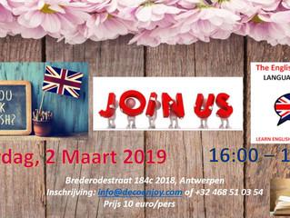 The English Workshop 2 Maart 2019