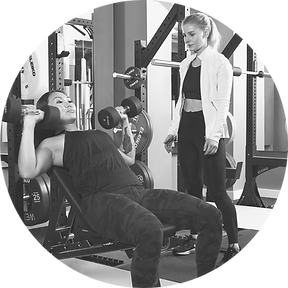 kate sutton personal training client in gym in london se1