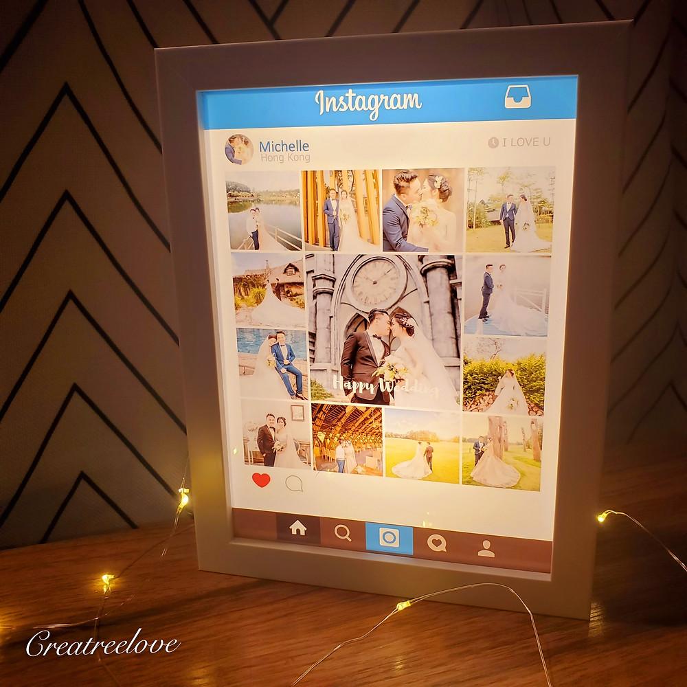 生日禮物, IG lighting box, 相片回憶錄燈箱, 禮物, 香港禮物, 香港禮物店