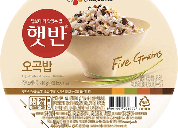 CJ 5 Grains Microwavable Cooked Rice 210g