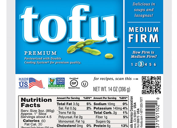 Premium medium firm tofu, 396g