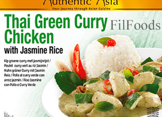 Authentic Asia Thai Green Curry Chicken w/ Jasmine Rice 350g