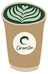 GreenZen Matcha Takeaway Cup Illustratio